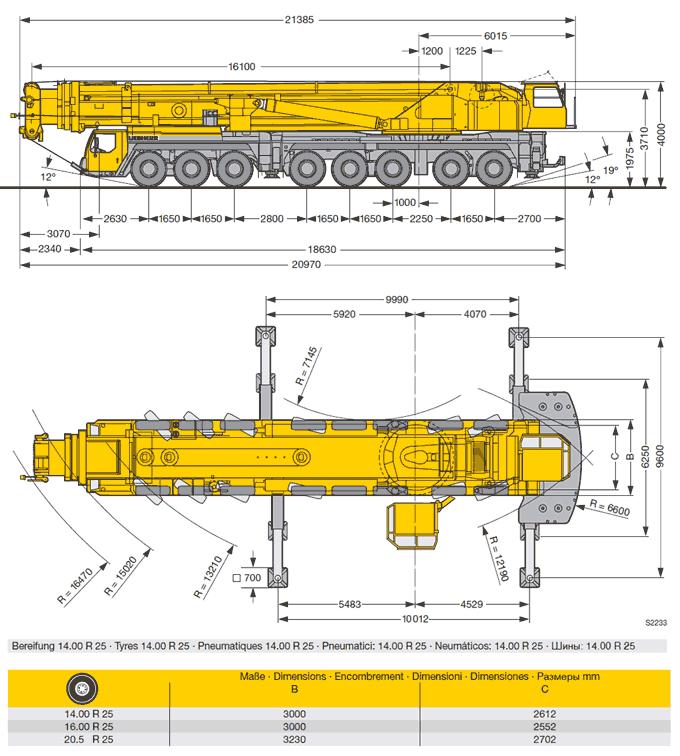Mobile Crane 50 Ton Dimension : Bernard hunter tonne crane ltm